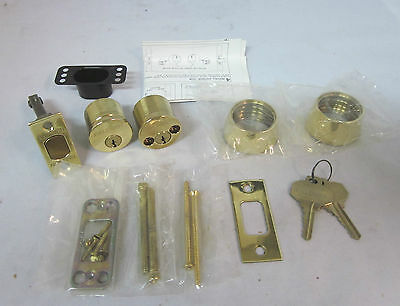 Baldwin 8011 Auxiliary Deadbolt Double Cylinder Keyed Alike 9428 POLISHED BRASS