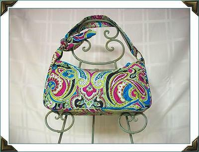22f25f7fe45f VERA BRADLEY SILK Daphne Bag Ltd Edition Bella Paisley Blue Pink ...