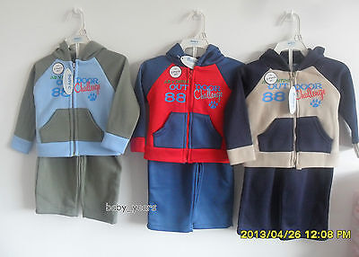 Baby Boys Tracksuit Jogging Bottoms And Hooded Jacket Outfit Top Pants Set New