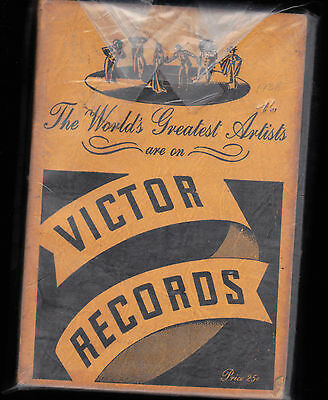 1938 Victor Records Catalog- The World's Greatest Artists