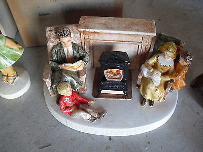 Vintage Sebastian Miniature Figurine America Remembers Family Reads Aloud