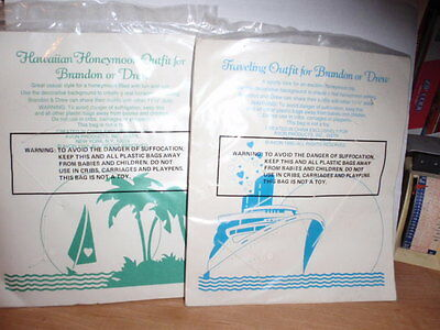 2 Packages Avon Brandon Or Drew Doll Clothes Honeymoon Outfit & Traveling Outfit