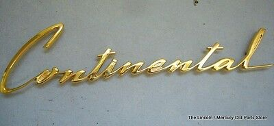 1960 60 LINCOLN CONTINENTAL MARK V GOLD FENDER NAMEPLATE C0LB-16098-A NEW REPRO