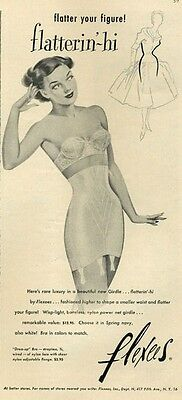1952 Flexees Strapless Corsees Girdle and Bra PRINT AD