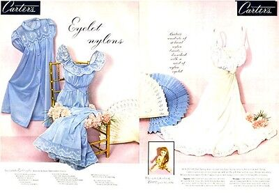 1952 Carters PRINT AD Fashion Slips Lingerie Great Boudoir, Bedroom decor