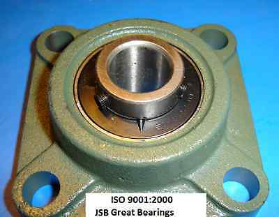 "(Qty 2) 3/4"" UCF204-12 Quality square flange UCF204 Pillow block bearing ucf 204"