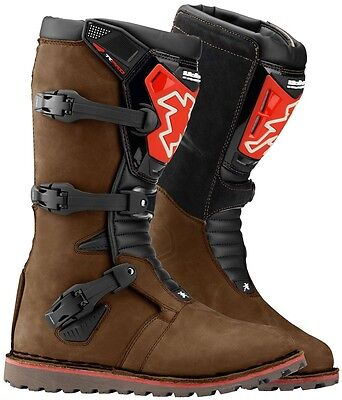 New Hebo Tech Evo Trials Boots Brown Trail 8 9 10 11 12 13 Trail Adult