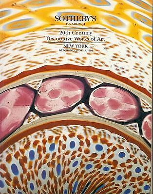 Sotheby's Sale 6584 20th Century Decorative Works of Art Auction Catalog 1994