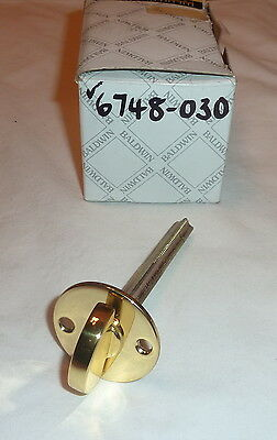 "Baldwin 6748-030 Closet Spindle for 2.125"" Doors POLISHED BRASS no screws NEW"