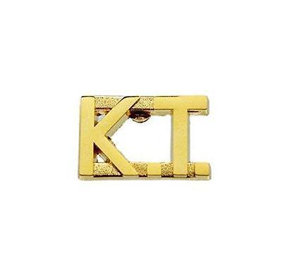 KT Knights Templar Gold Uniform Lapel Pin Bar
