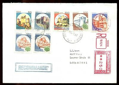 Italy 1987 Registered Cover To Germany #C6360