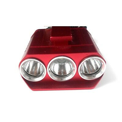 1300LM CREE XM-L T6 + XP-G R5 3 LED 4-Mode Bike Bicycle Head Light Red
