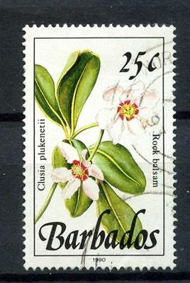 "Barbados 1982-92 SG#925 25c Wild Plants Definitive ""1990"" Imprint Used #A32797"