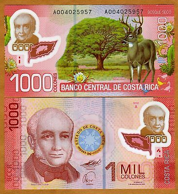 Costa Rica, 1000 Colones 2009 (2011), P-274, First Polymer UNC