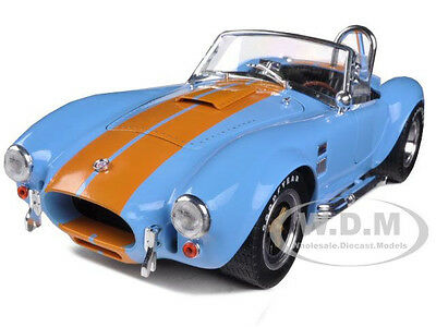1965 Shelby Cobra 427 S/c Blue W/orange 1/18 Shelby Collectibles Sc129