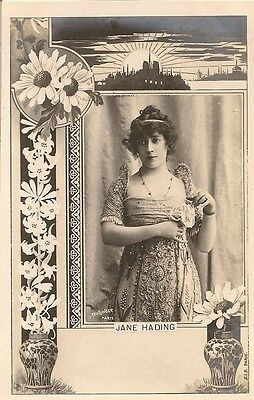 Carte Postale Illustrateur Reutlinger Femme Celebrite Actrice Jane Hading