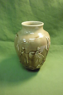 """MEXICAN VILLAGE 6"""" VASE #6762 BY ROOKWOOD - 1952"""