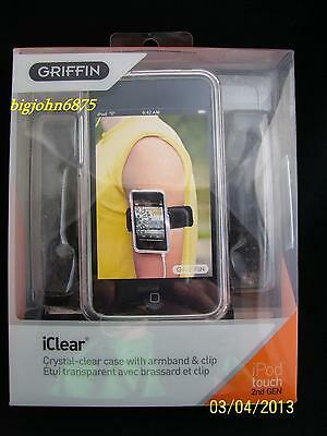 Griffin iClear Case Shell with Belt Clip and Armband for iPod Touch 2nd //3rd Gen