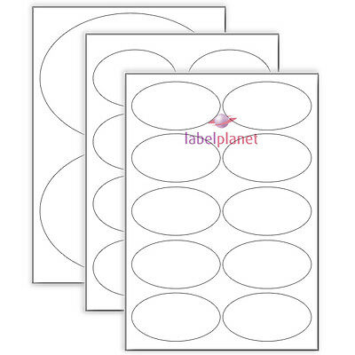 A4 Sheets Oval Labels Blank Matt White Self Adhesive Stickers Label Planet®