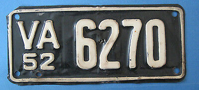1952 Virginia Motorcycle License Plate