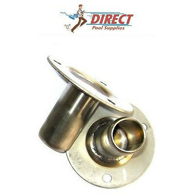 Flanged Mountings (2) for bolting on Stainless Steel Pool Ladders Hand Rail