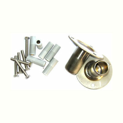 Flanged Mountings (2) with bolts & loxins For Stainless Steel Rails & Ladders