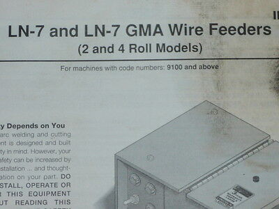 Lincoln Electric LN-7 & GMA Wire Feeders Machines 9100 Operator's Manual IM351-C