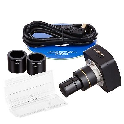AmScope MU300-CK 3MP USB Microscope Digital Camera + Calibration Kit