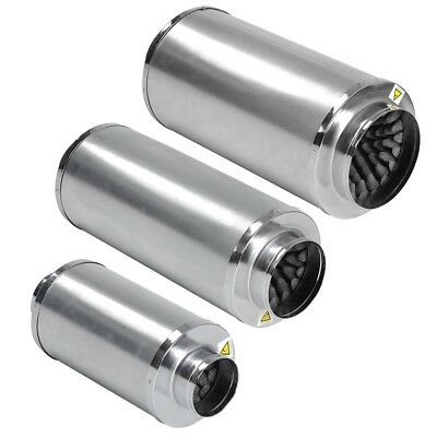 """4 6 8"""" Duct Muffler Inline Fan Silencer Noise Reducer Hydroponic Vent Grow Tent"""