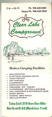 Clear Lake Campground Dafter Michigan Brochure