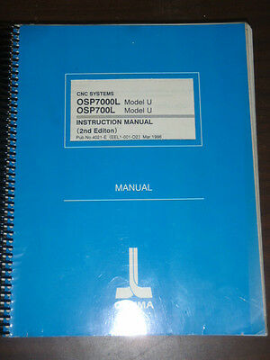 Okuma CNC System OSP7000L OSP700L Model U Instruction Manual 2nd Ed._1996