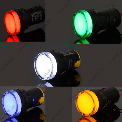 5×22mm AC/DC 24V Mixed 5 Color Red Green Blue Yellow White LED Indicator Light