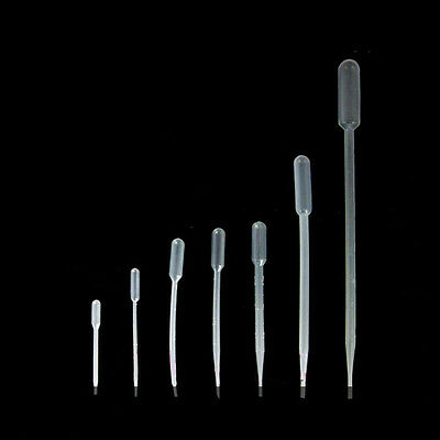 0.5ml 3ml Disposable Plastic Pipettes Pipets Eye Dropper Transfer Graduated