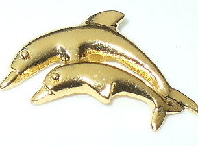 Gold-Toned Dolphin Pin