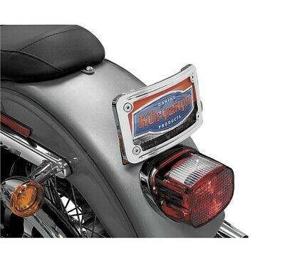Kuryakyn Curved Tip License Plate Frame For Harley 9198