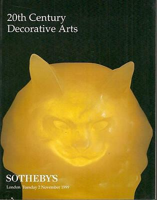Sotheby's 20th Century Decorative Arts London Auction Catalog 1999