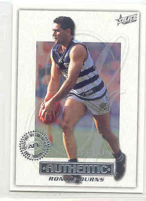 2001 Select AFL Authentic 063 Ronnie Burns-Geelong