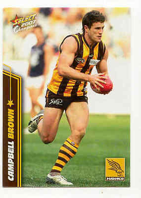2007 Select AFL Champions #095 Campbell Brown-Hawthorn