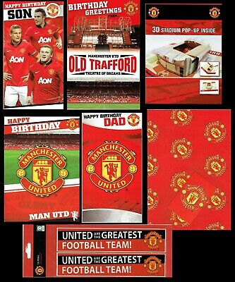 OFFICIAL~ MANCHESTER UNITED FOOTBALL CLUB Birthday or Christmas Card ~ MUFC~