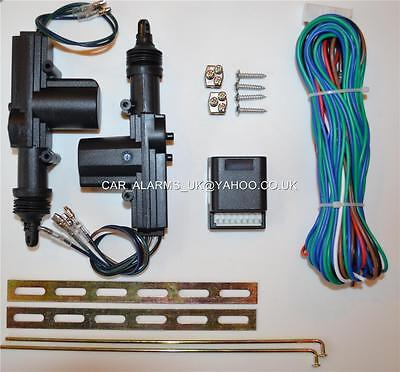 NEW 2 door 12V DC UNIVERSAL CENTRAL LOCKING KIT will fit any car