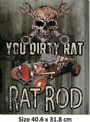 You Dirty Rat Rod Ford Rustic Tin Sign -1538- Made In USA Huge Variety Of Signs