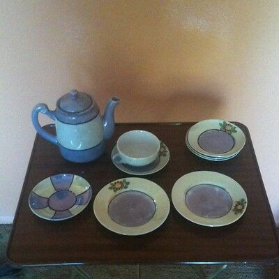 Vintage Child's Lusterware Tea Set 10 Piece