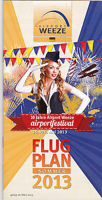 Timetable Airport Weeze Sommer 2013