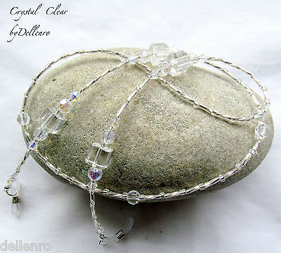 ✫Crystal Clear✫ Beaded Eyeglass Glasses Spectacles Chain Holder Cord