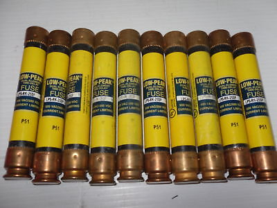 Nice Lot Bussmann LPS-RK-25SP 25 Amp Fuses Low Peak 600 Volts