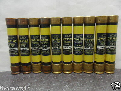 Nice Lot Bussmann LPS-RK-45SP 40 Amp Fuses Low Peak 600 Volts