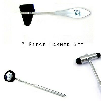 Neurological Reflex Hammer Set In Black 3 Pieces - Taylor, Babinski, Buck
