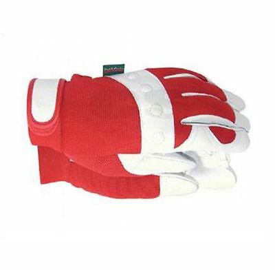 Town & Country Tgl104S Comfort Fit Red Gardening Gloves - Ladies Small