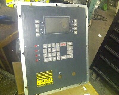control panel for Mono machine cookie depositor
