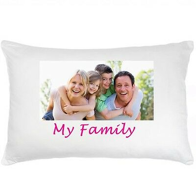 Personalised Photo Pillow Case with your Photo and/or Text - One side or Both